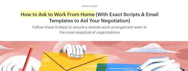 How to Ask to Work From Home article screenshot