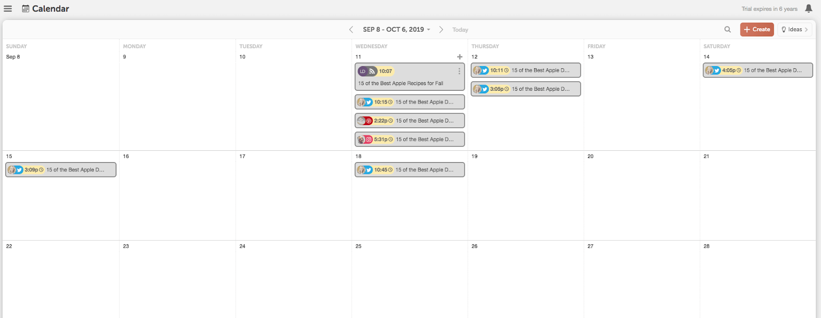CoSchedule Calendar blog management