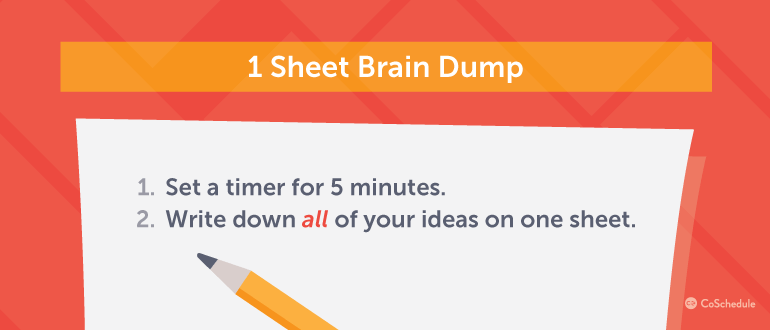 How to do a 5 minute idea brain dump