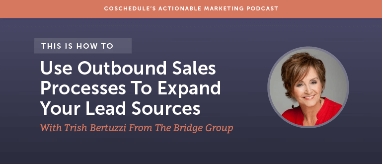 How To Use Outbound Sales Processes To Expand Your Lead Sources With Trish Bertuzzi From The Bridge Group [AMP 103]