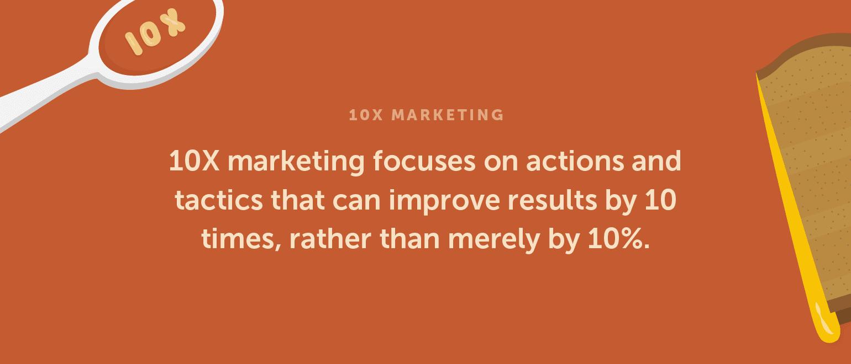 Definition of 10X Marketing