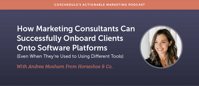 How Marketing Consultants Can Successfully Onboard Clients Onto Software Platforms (Even When They're Used to Using Different Tools) With Andrea Moxham from Horseshoe & Co. [AMP 170]