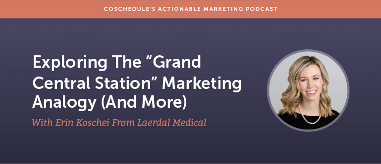 "Exploring The ""Grand Central Station"" Marketing Analogy (And More) With Erin Koschei From Laerdal Medical [AMP 163]"