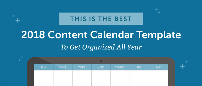 Content Calendar Template Header Graphic