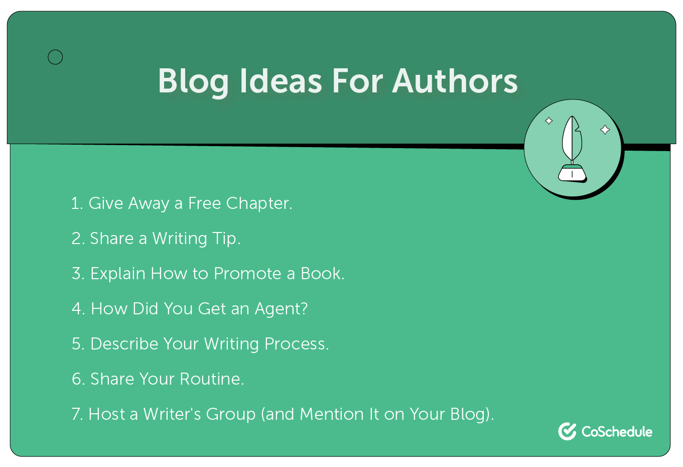 Blog ideas for authors.