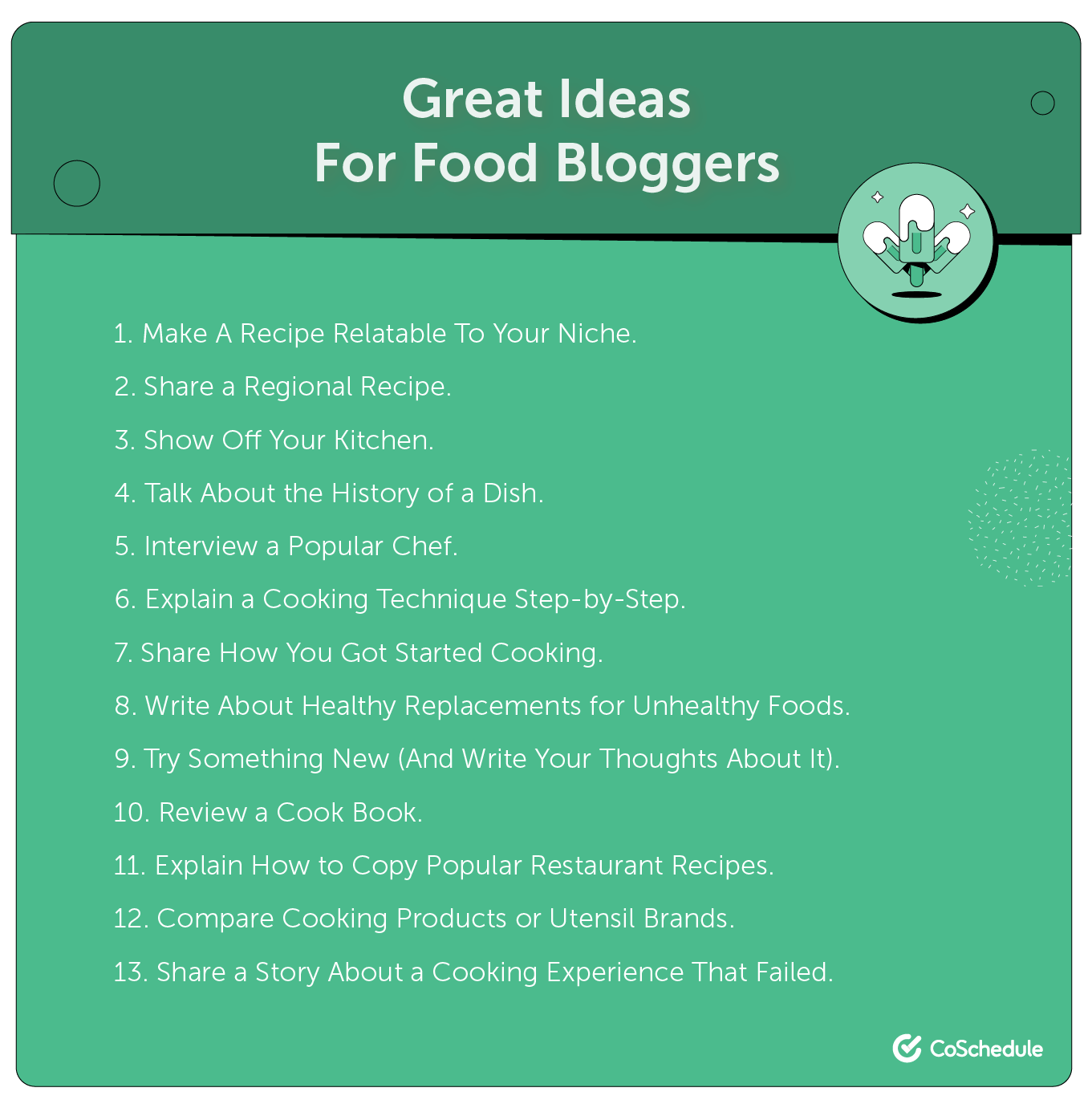 Ideas for food blogging.