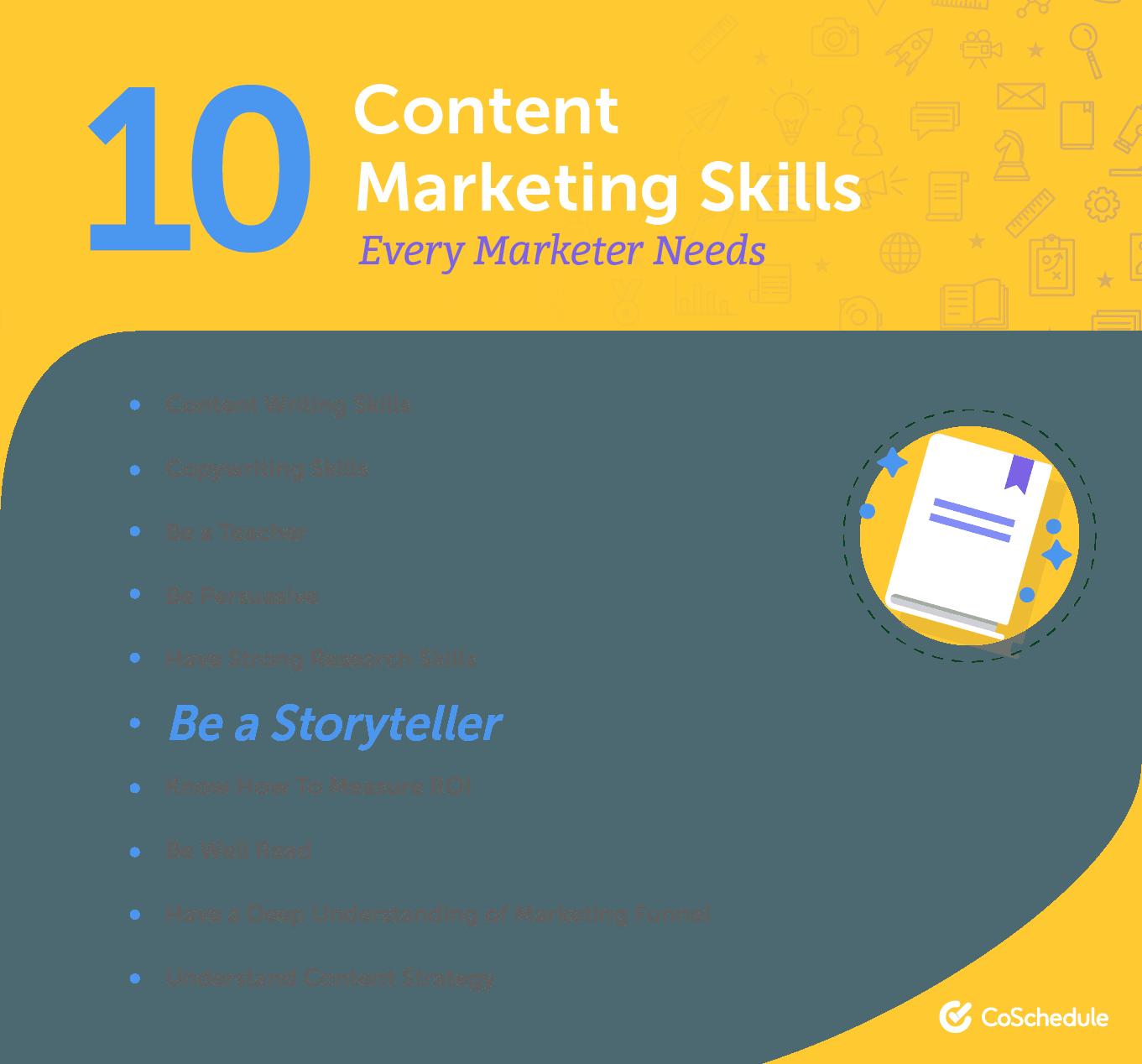10 content marketing skills every marketer needs.