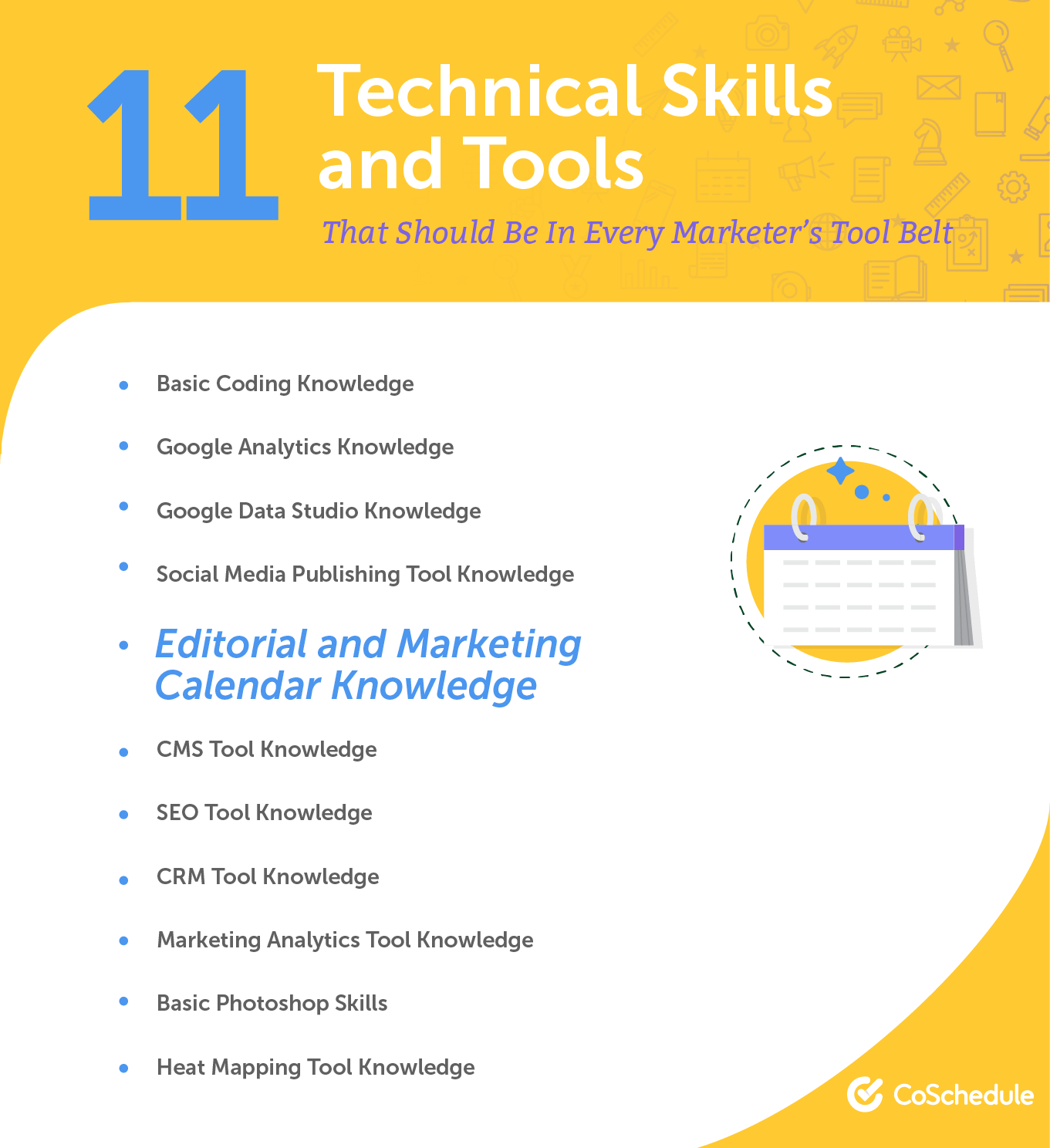 11 technical skills and tools that should be in every marketers tool belt.