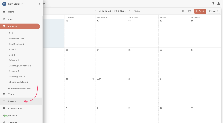 Kanban view in CoSchedule.