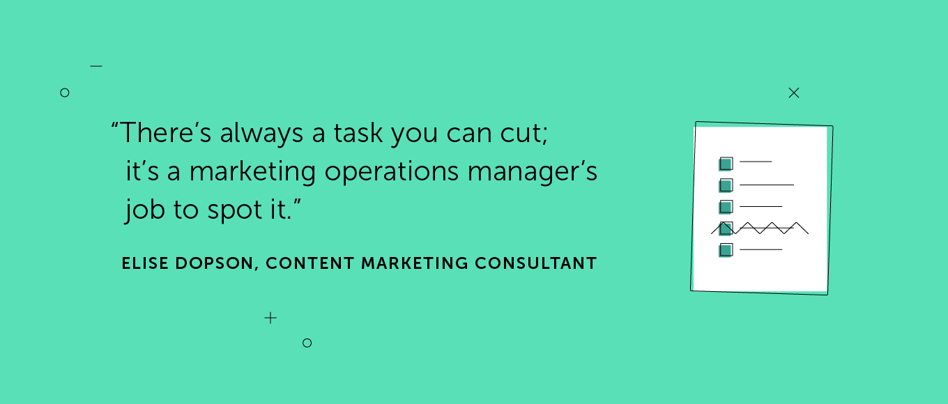 Quote from Elise Dopson about managers cutting tasks.