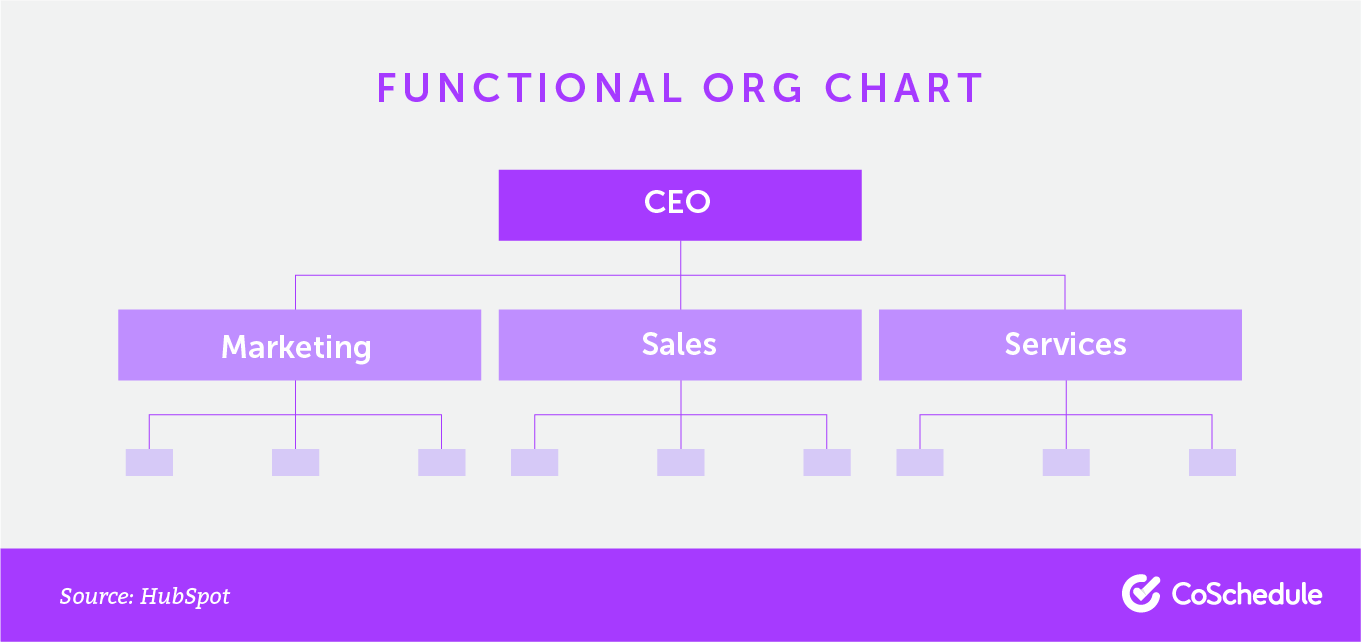 Functional org chart.