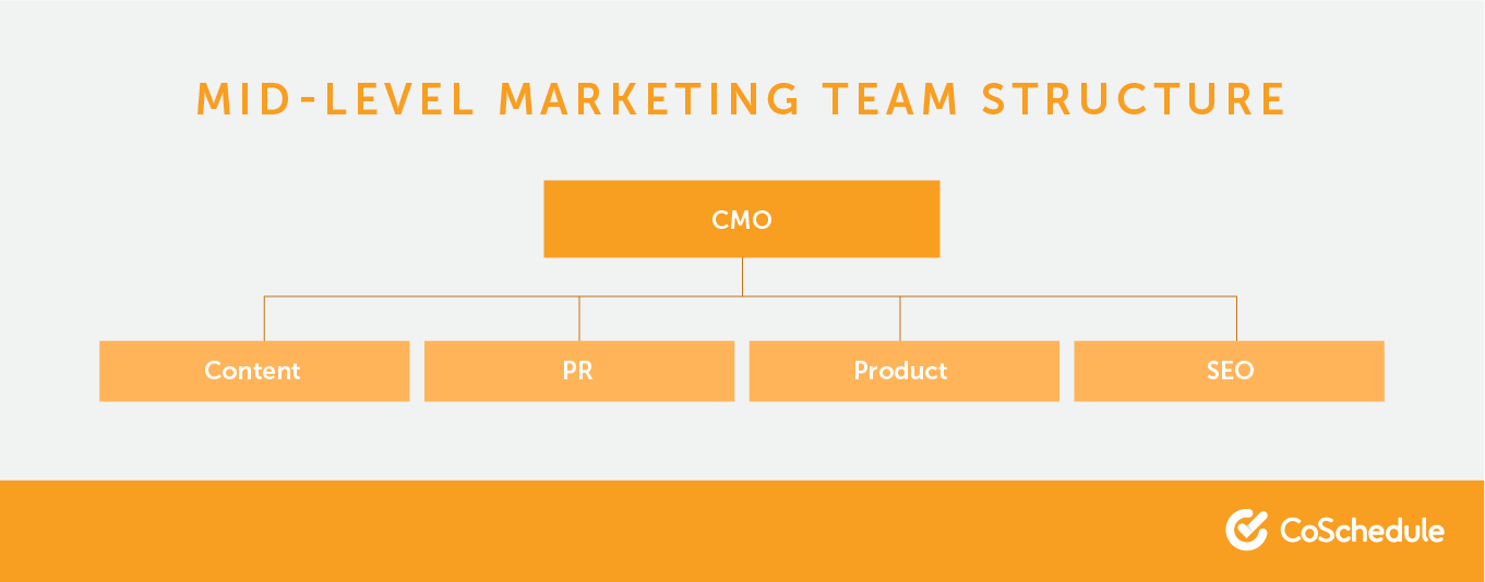 Mid-level marketing team structures.
