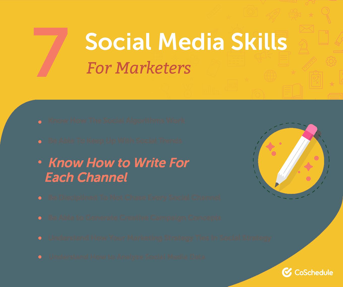 7 social media skills for marketers.