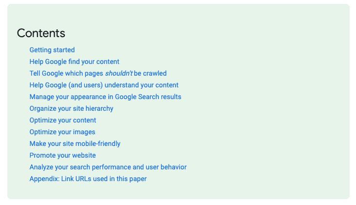 Google's SEO starting guide.