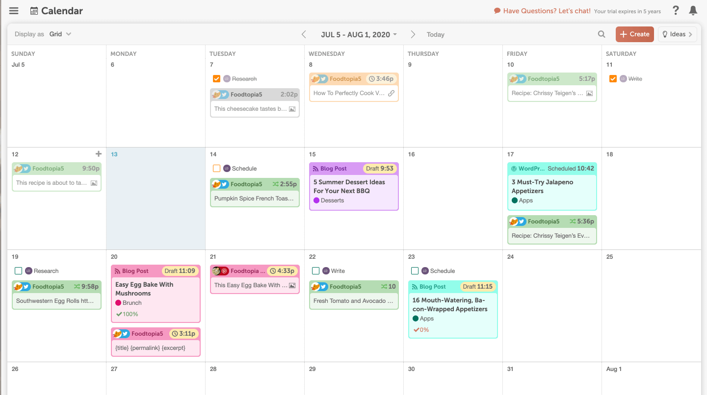 Blog Calendar by CoSchedule - Legacy