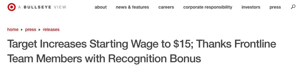Background headline by Target