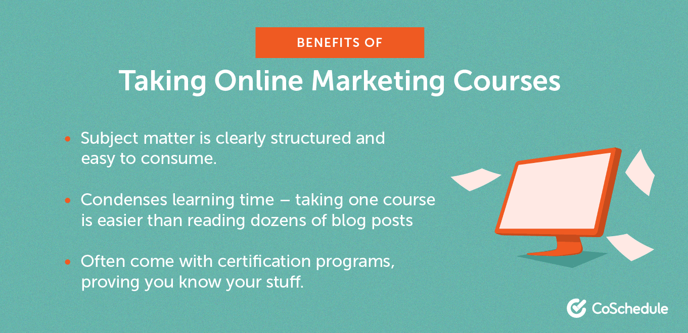 Benefits of taking online marketing courses.