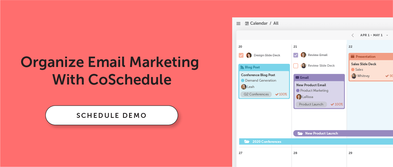 Schedule a demo with CoSchedule CTA