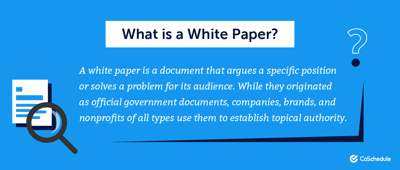 The definition of a white paper.
