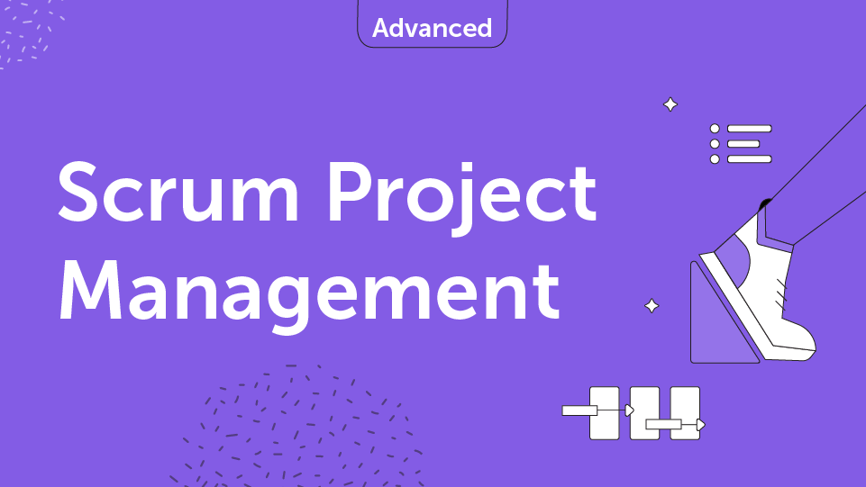 Scrum Project Management Course Card