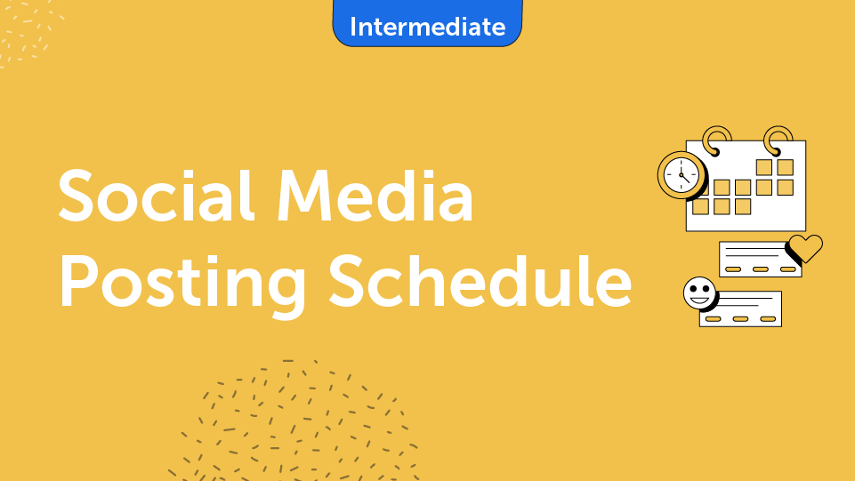 Social Media Posting Schedule Course Card