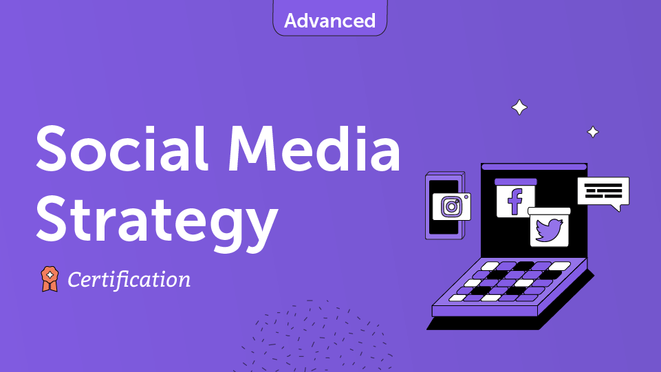 Social Media Strategy Course Card