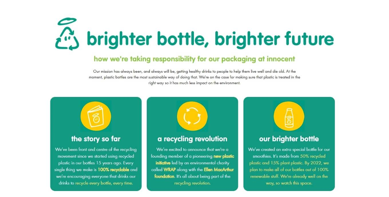 Innocent Drinks - brighter bottle, brighter future