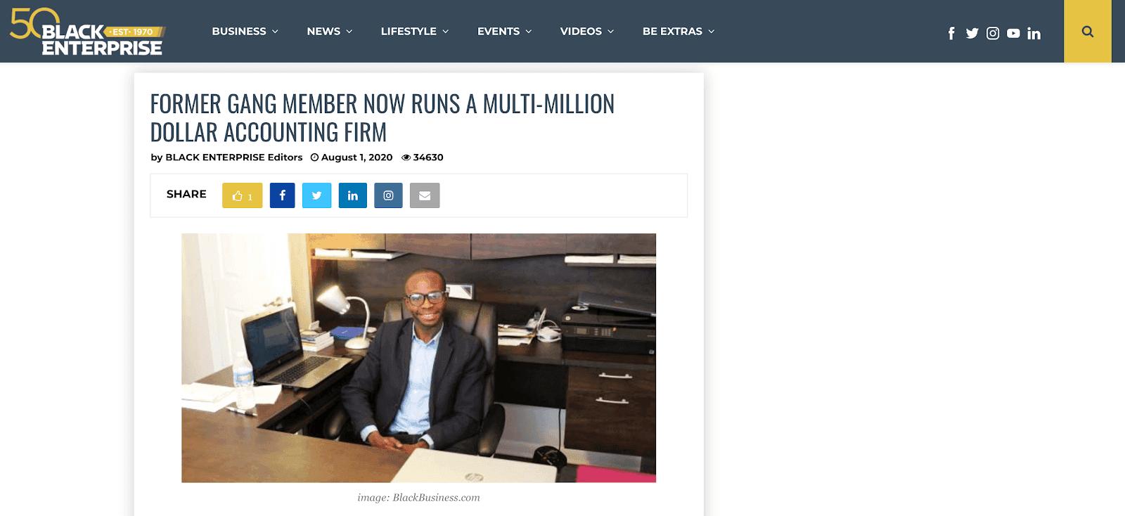 Black Enterprise headline