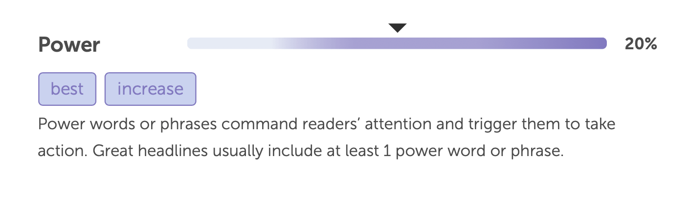 Power word analysis