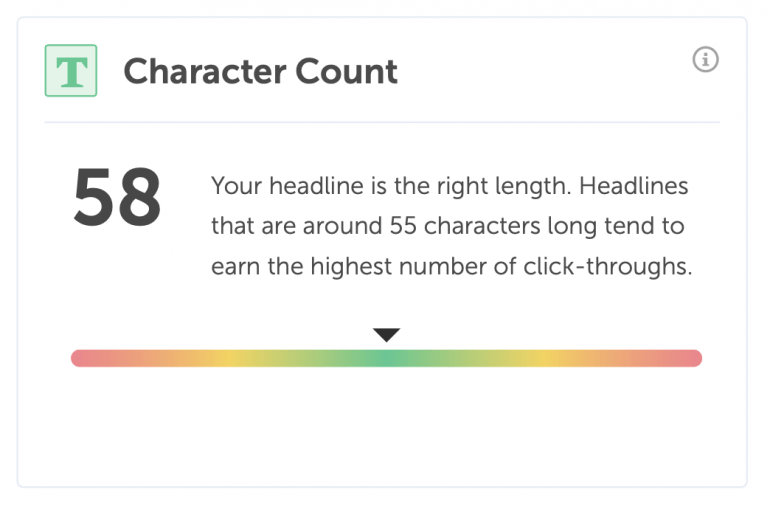 Headline character count