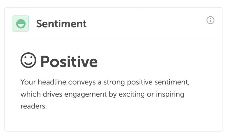 Headline sentiment analysis