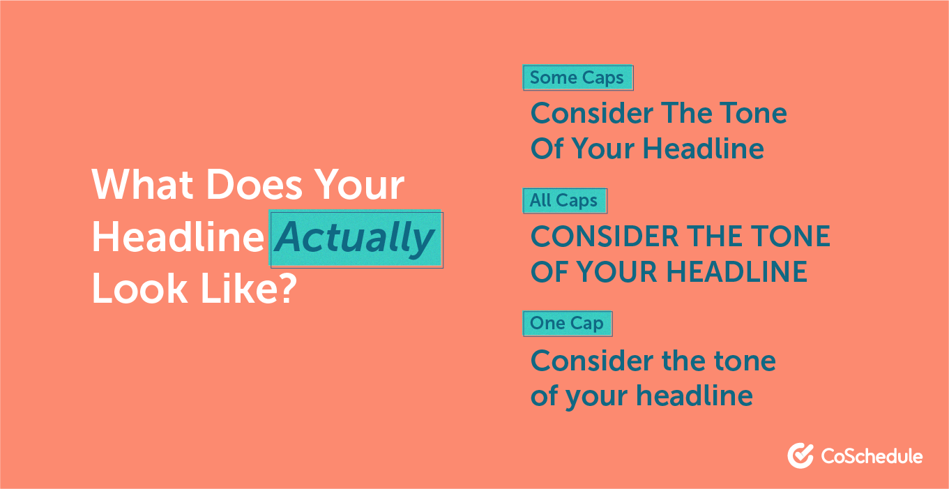 Using capitalization in your headlines