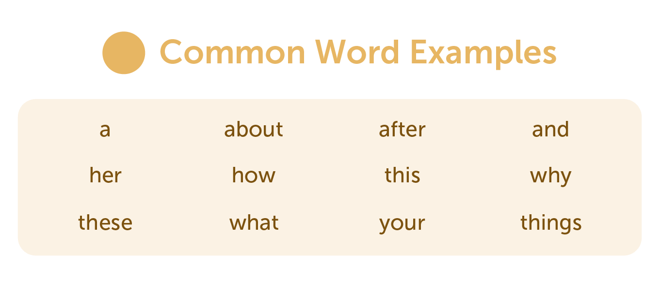 Common word examples