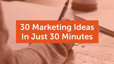 Marketing Ideas Course Graphic