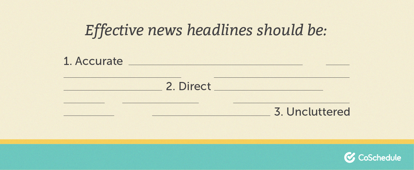 What goes into an effective news headline