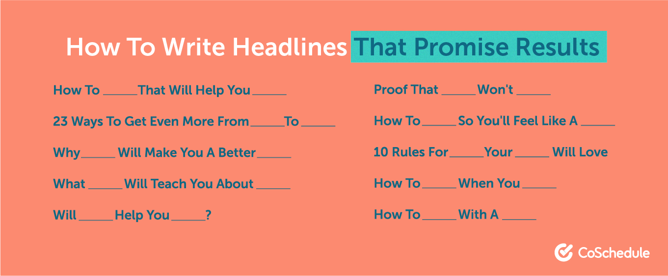 Writing headlines that promise results