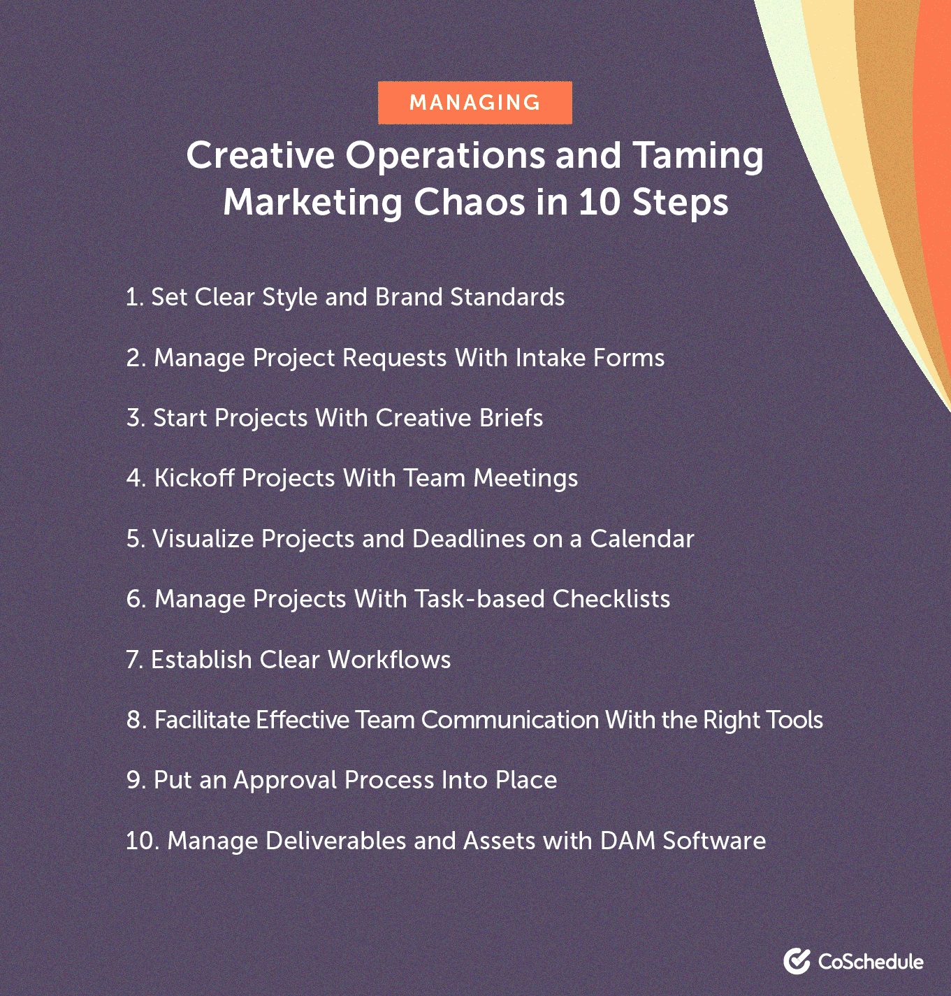 Managing creative operations in 10 steps