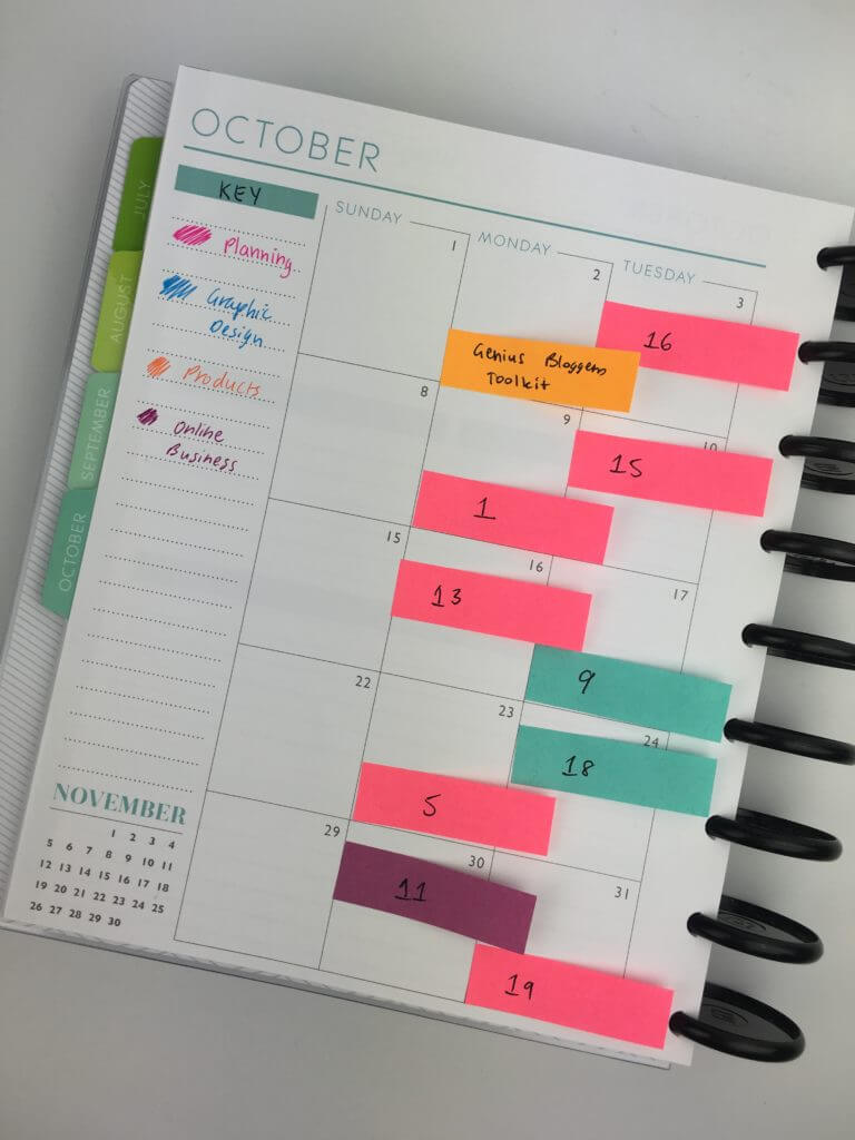Notebook style day-planner