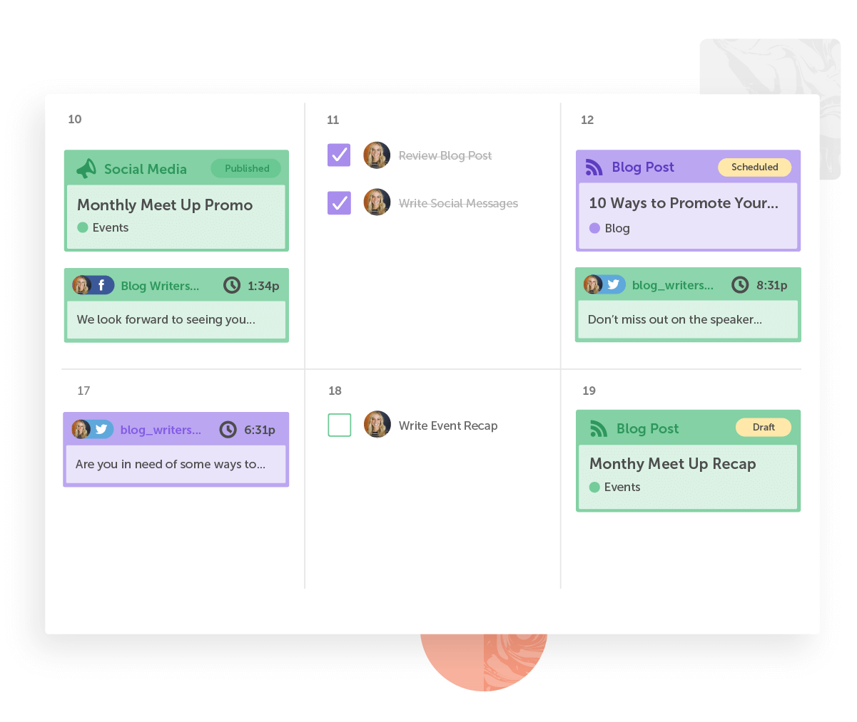 5 awesome things you can do RIGHT NOW with a CoSchedule content calendar