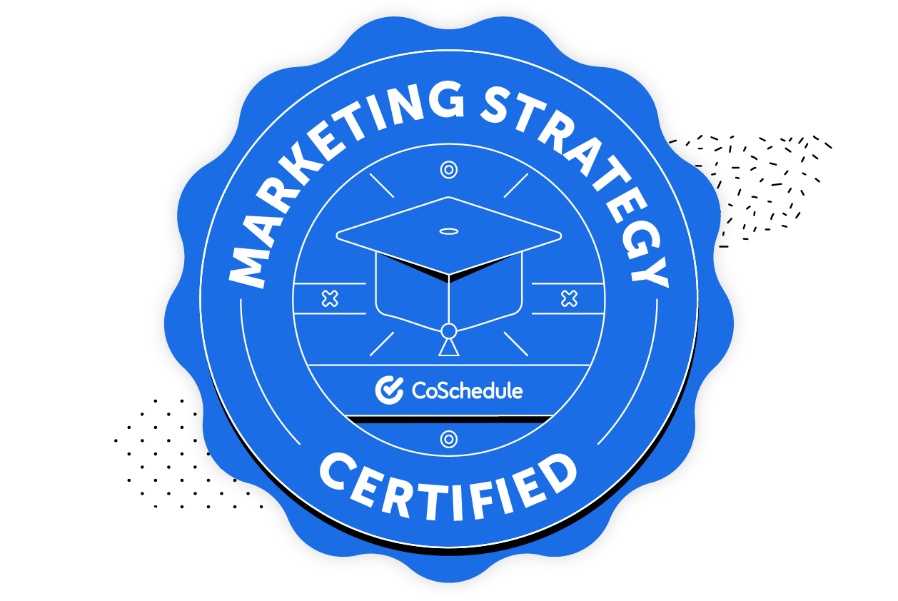 Person learning through the Actionable Marketing Institute Powered By CoSchedule