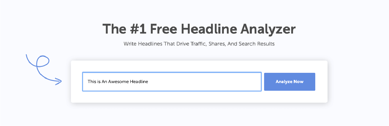 Headline Analyzer with headline