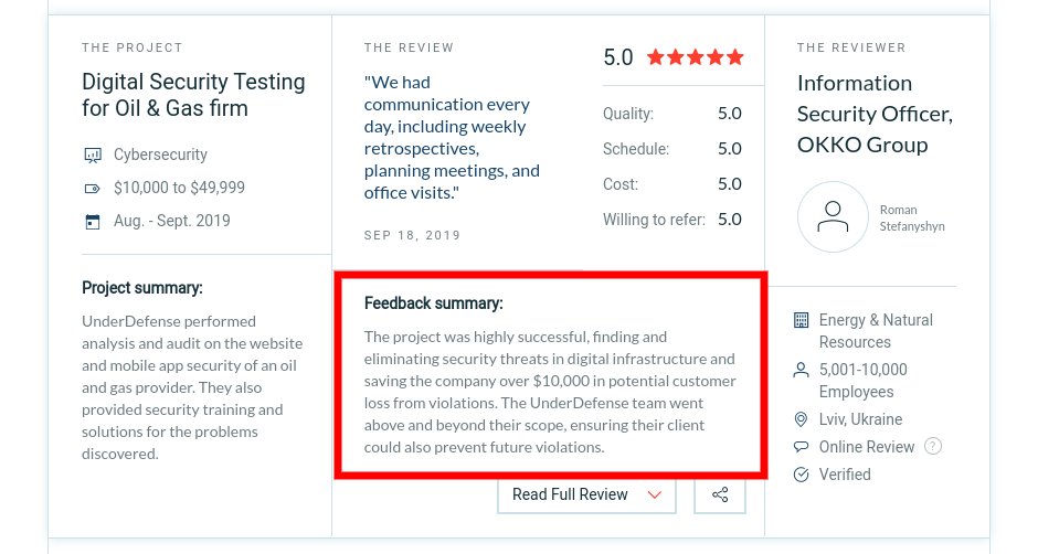 Customer reviews containing pain points