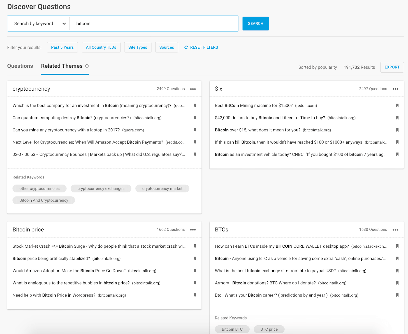 Buzzsumo discover questions