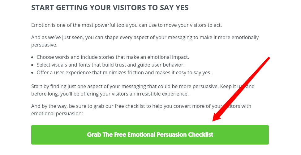 Post from Sumo on emotional persuasion