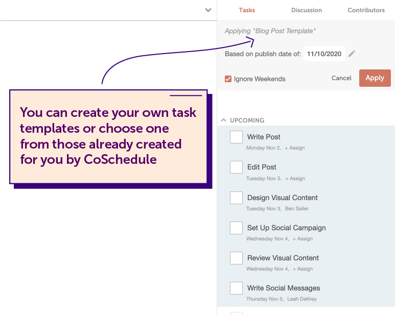 Customize task templates