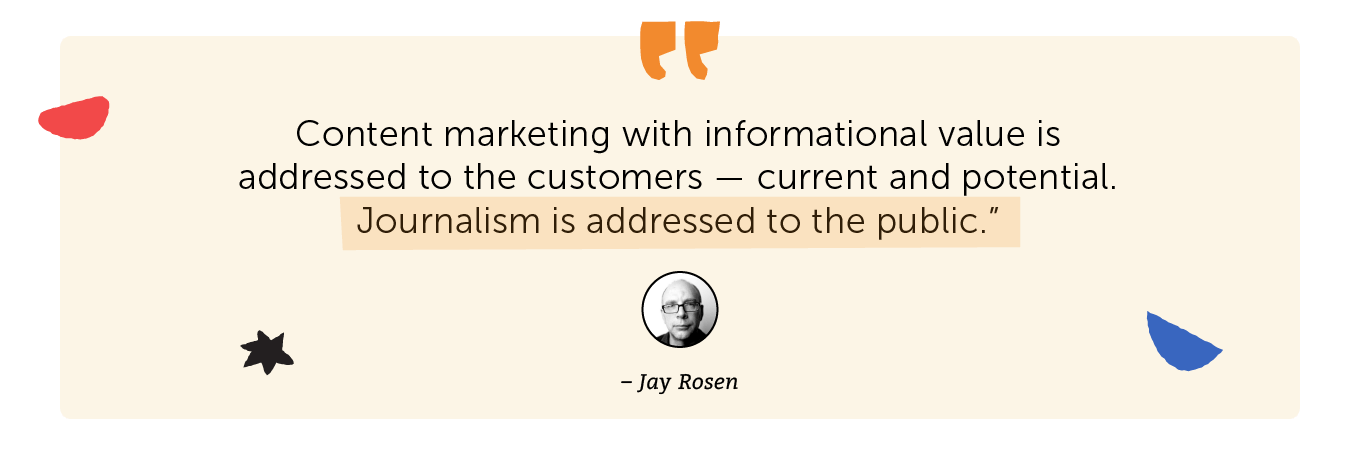 Jay Rosen quote about journalism