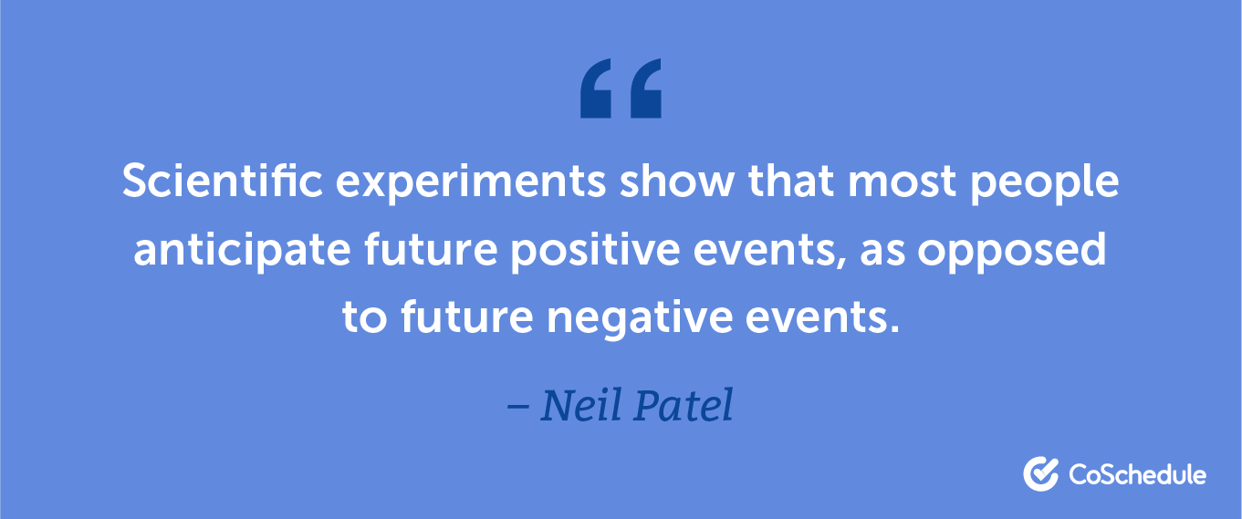 Neil Patel quote about positivity and negativity