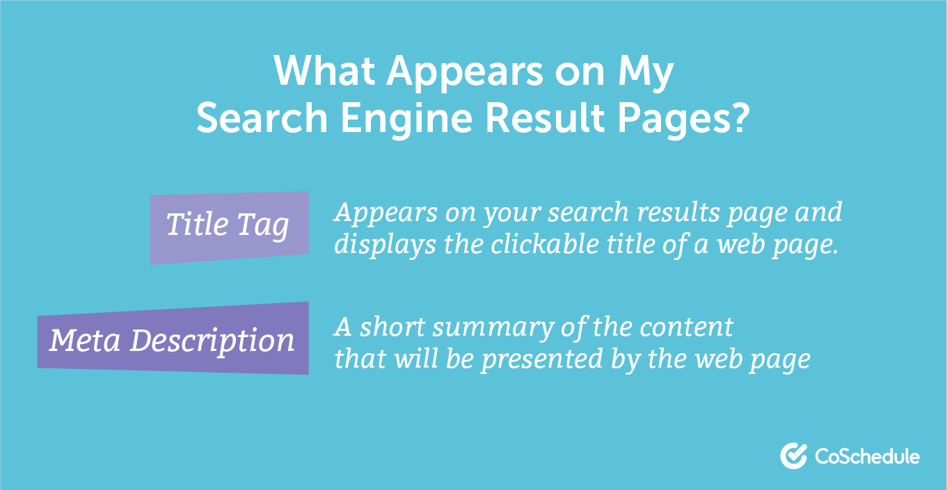 Search engine result page content