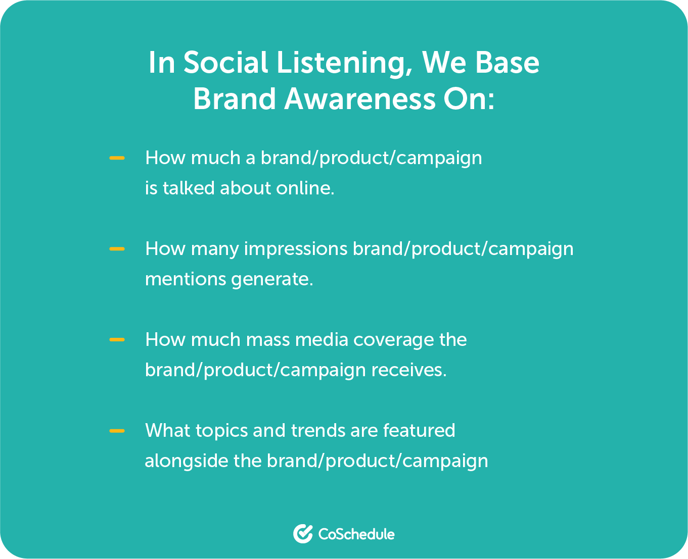 Social listening brand awareness