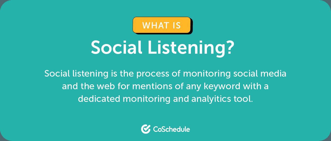 Definition of social listening